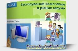 Уpok №2 Застосування комп'ютера в різних галузях